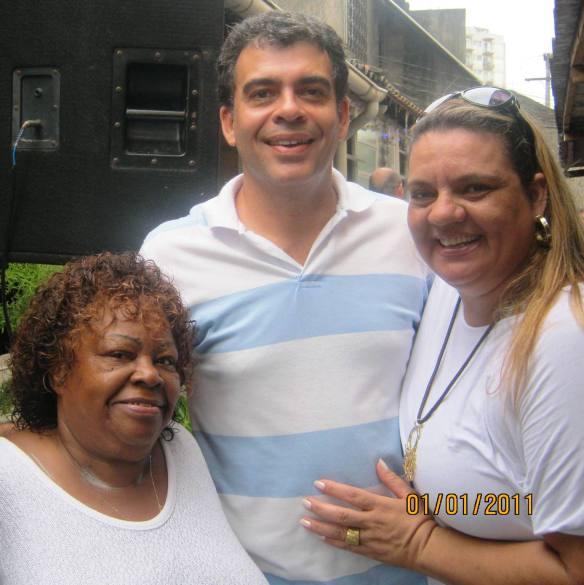Tia Surica, eu e a produtora cultural de Mato Grosso Ester Manciolli