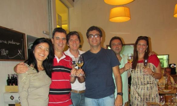 Ana e Cristovão Oliveira, Dr. Luís Meloni, Paulo Bocca, Reinaldo e Andrea Loureiro.