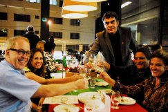 Dr. Ronaldo e Dra. Gilma,  Paulo Bocca, Altair e Silvana Pardini