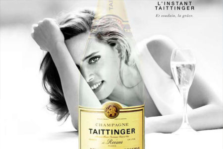 Legenda Anùncio do Chapagne Taittinger
