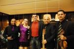 Os bailarinos Mateus e Nicole e os músicos Marcos Costa e Julio Santos.