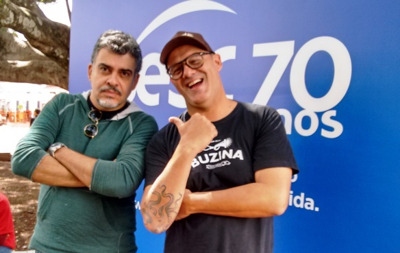 Com Márcio Silva, do Buzina, pioneiro no movimento Food Truck no Brasil