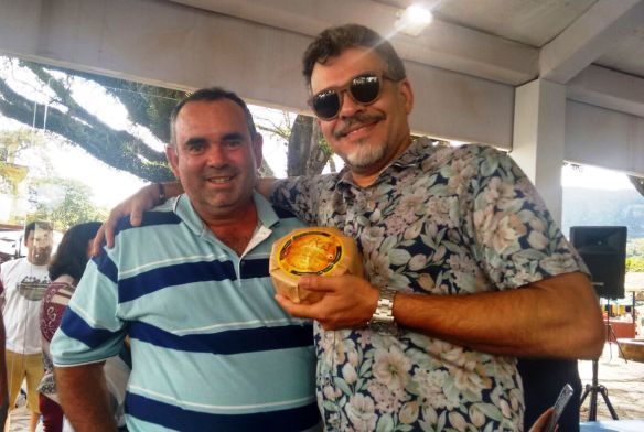 Com Sr. João José de Melo, produtor do premiado queijo da Serra do Salitre, tradição há  mais de há 200 anos